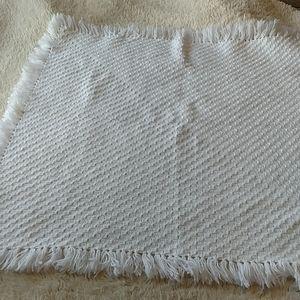 White Handmade Afghan Baby Blanket